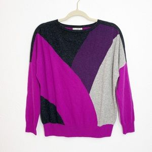 Nordstrom Collection Cashmere Color Block Sweater